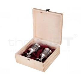 Artina boros kupa szett Fadobozban