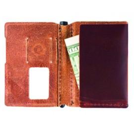 Leather Sleeve bőrtok Trayvax Summit kártyatartókhoz cserzett bőrtok