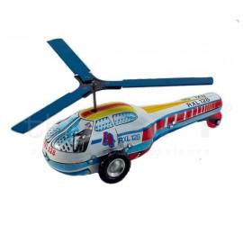 Fém lendkerekes helikopter 16,5 x 8 x 7 cm